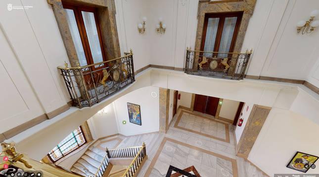 Foto de la Casa Consistorial de Pamplona.