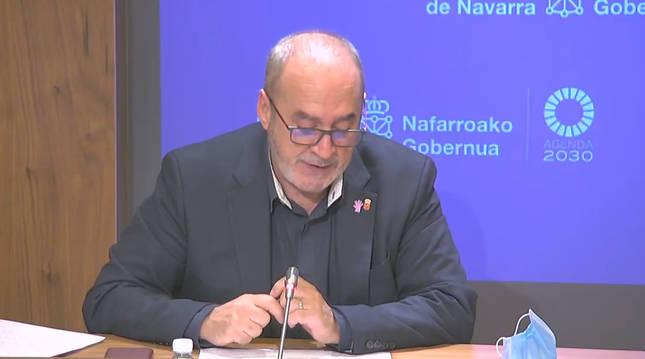 Foto de Juan Cruz Cigudosa, consejero de Universidad, Innovación y Transformación Digital del Gobierno de Navarra, y presidente del Consejo de Administración de Tracasa Instrumental.