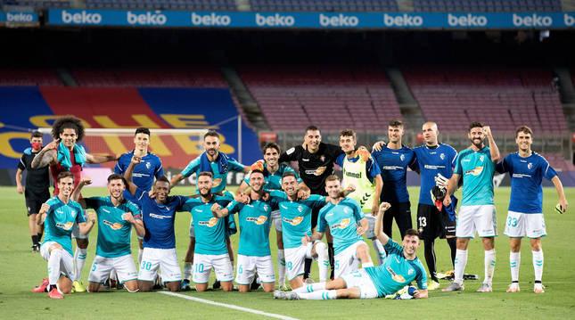Foto de la temporada pasada tras el triunfo en Barcelona.
