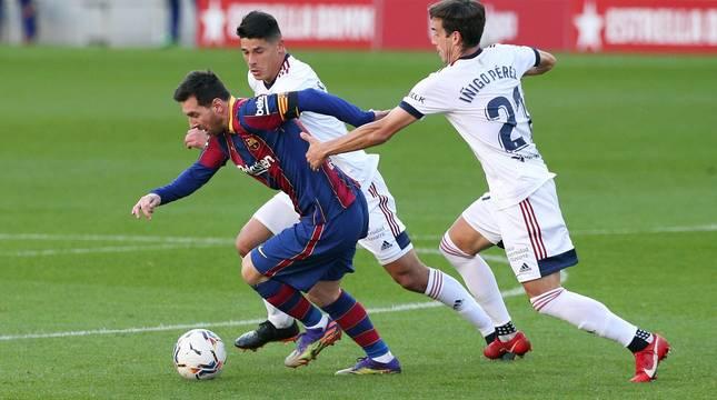 Imágenes del encuentro entre Barcelona y Osasuna, que han ganado los culés por 4-0.