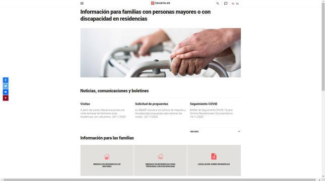 Imagen de la nueva web.