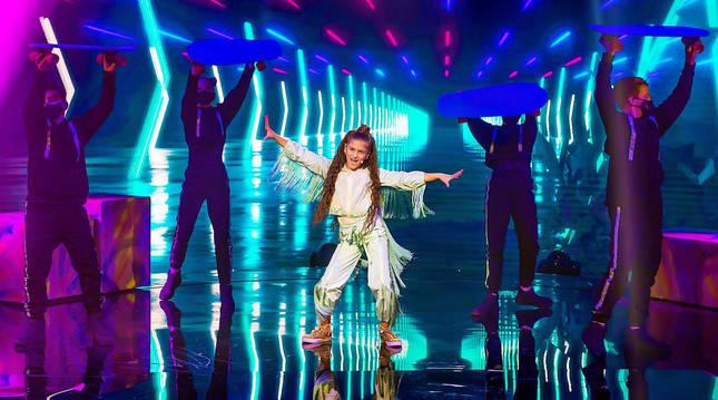 Foto de Soleá en Eurovisión Junior 2020.