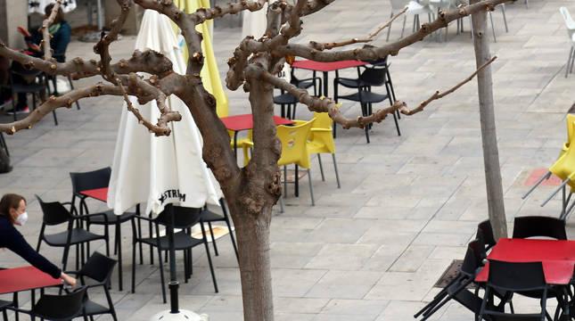 Una terraza de un establecimiento hostelero.