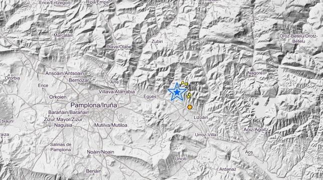 El terremoto ha tenido su epicentro en el Valle de Egüés.