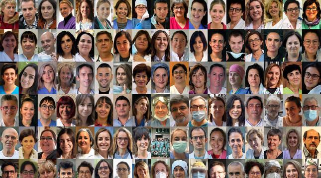 Foto de 102 sanitarios y sociosanitarios navarros.