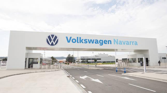 Entrada a las instalaciones de Volkswagen Navarra.