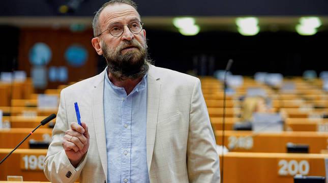 El eurodiputado József Szájer, del partido ultraconservador Fidesz, en el Parlamento Europeo.