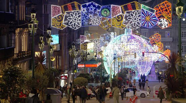 foto de Encendido del alumbrado navideño en las calles de Vigo