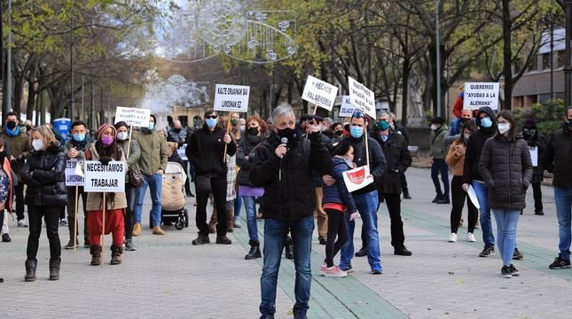La hostelería navarra vuelve a la calle para exigir su apertura