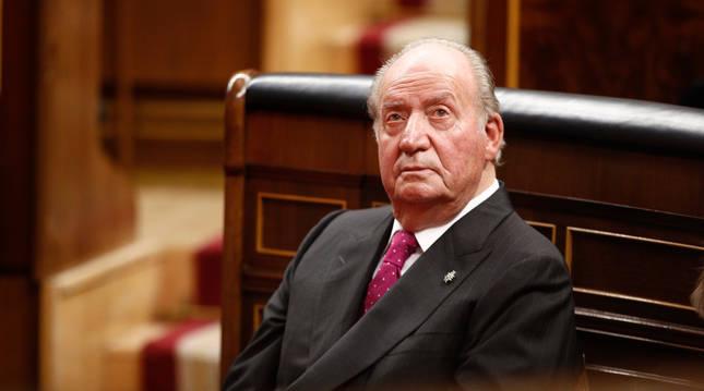Foto del rey Juan Carlos I en el Congreso, el 6 de diciembre de 2018.