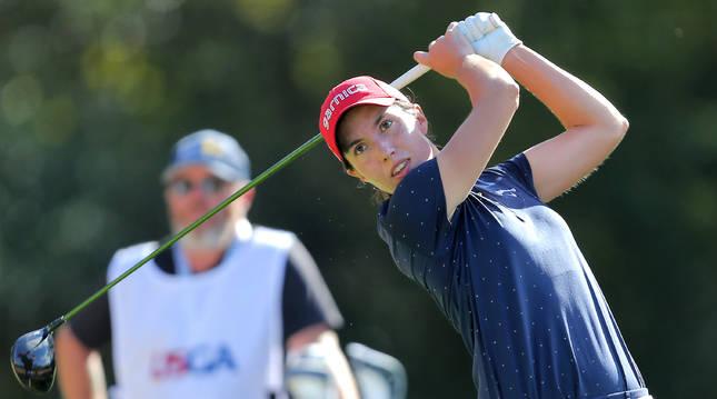 Foto de Carlota Ciganda, en el 'Champions Golf Course' de Houston.