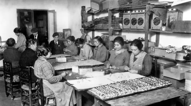 Fábrica de mazapán en Toledo. Fondo Rodriguez, Archivo Histórico Provincial de Toledo