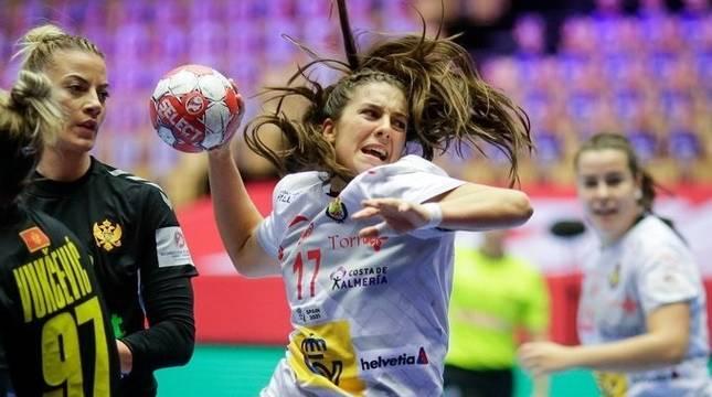 Jennifer Gutiérrez, en el partido de España contra Montenegro.