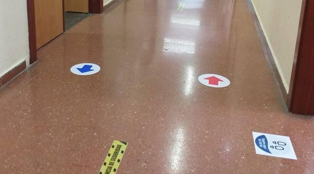 Medidas 'antiCovid' en un colegio de Gijón.