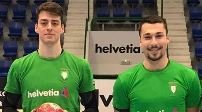 Aitor García y Marcos Cancio amplían su compromiso con el Helvetia Anaitasuna