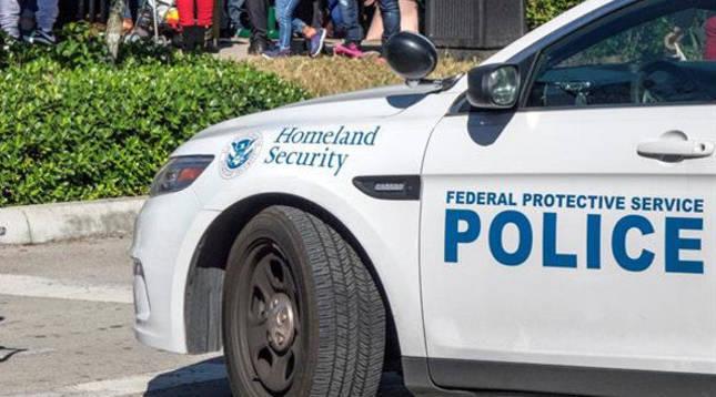 Un coche de policía en EE UU.