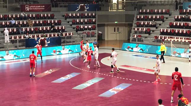 Una jugada del España-Túnez publicada en las redes sociales por la Federación Española de Balonmano.