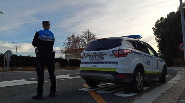 Un agente de la Policía Local de Tudela