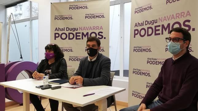 Eva Istúriz, Eduardo Santos y Carlos Amatriain.