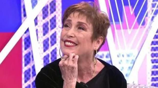 La actriz Verónica Forqué, durante su intervención en 'Sábado Deluxe'