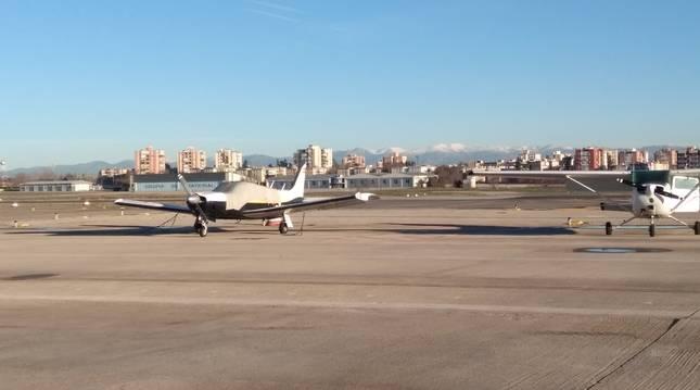 La pista del aeropuerto madrileño de Cuatro Vientos