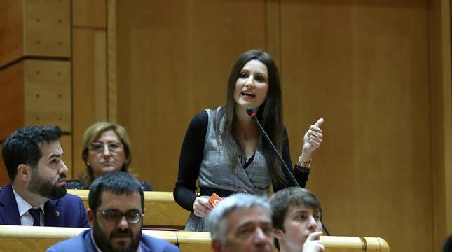La hasta ahora portavoz de Ciudadanos en el Parlamento de Cataluña, Lorena Roldán.