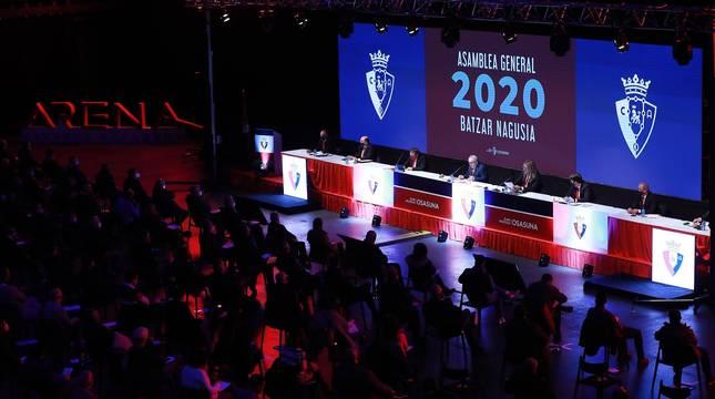 Asamblea de Osasuna en el Navarra Arena