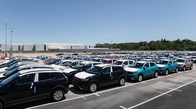 Campa de expediciones de la fábrica de Volkswagen Navarra