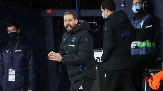 El entrenador del Alavés, Pablo Machín.