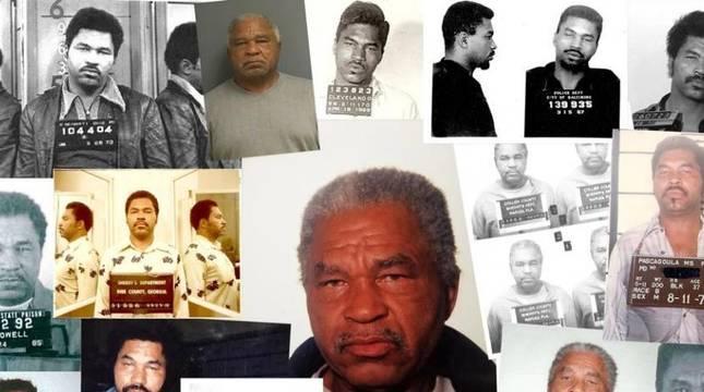 Fichas policiales de Samuel Little difundidas por el FBI.