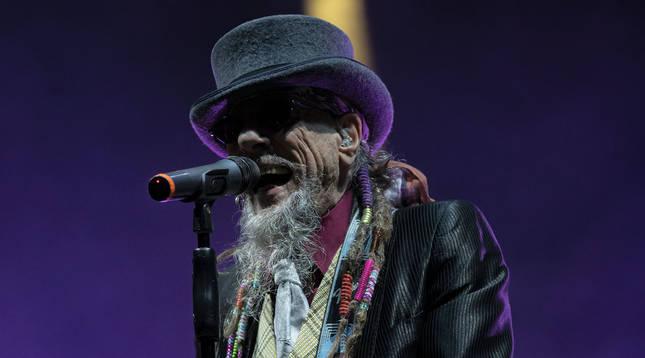 'El Drogas' en su último concierto en el Navarra Arena el 10 de octubre.