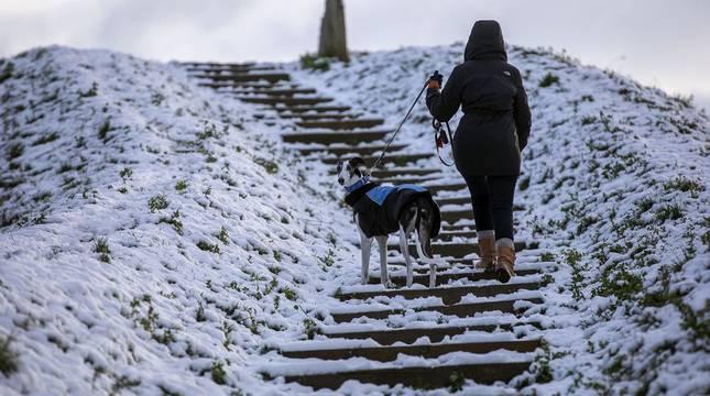 La nieve es la protagonista este 2 de enero en la Comunidad foral, que se encuentra en alerta amarilla