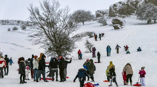 Nieve en el inicio de 2021 en Navarra