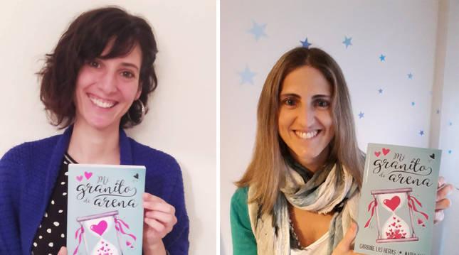 Las autoras Garbiñe Las Heras y María Allua.