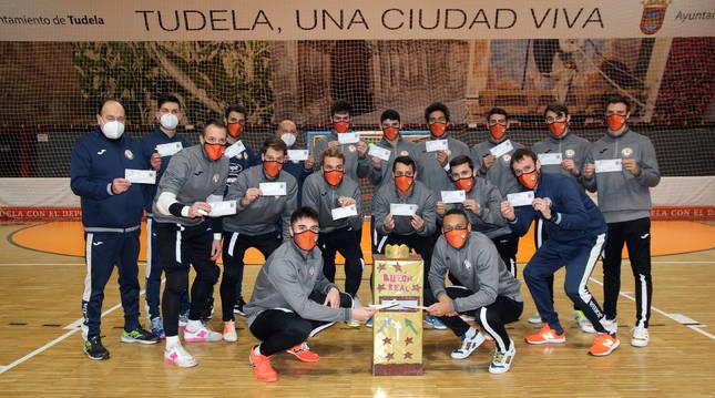 Foto de los jugadores del Aspil-Jumpers Ribera Navarra Fútbol Sala.