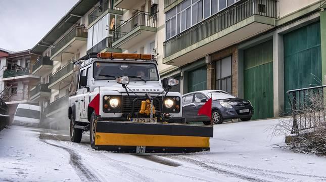 Fotos de la nieve en Navarra este 4 de enero