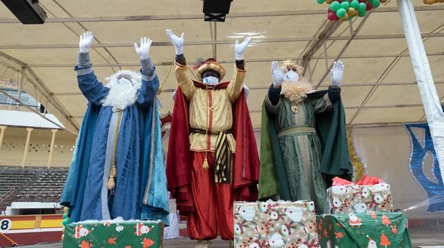 Fotos de la visita de los Reyes Magos a Tudela