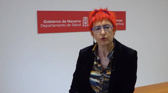 Foto de Santos Induráin, consejera de Salud del Gobierno de Navarra.