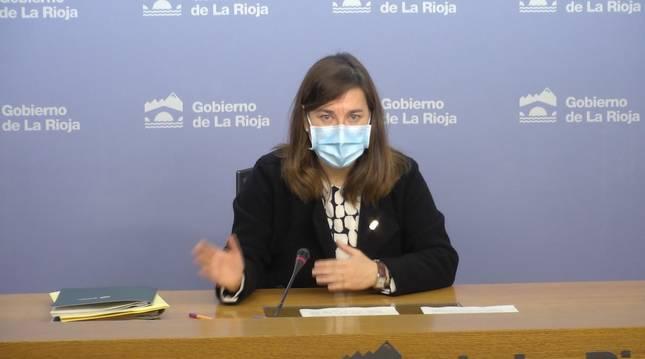Foto de Sara Alba, portavoz del Gobierno de La Rioja y consejera de Salud.