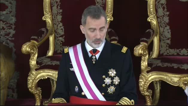 Vídeo: Felipe VI preside la Pascua Militar y recuerda el compromiso de todos los españoles con la Constitución