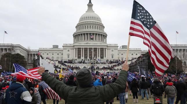 Imágenes del asalto al Capitolio de Estados Unidos.