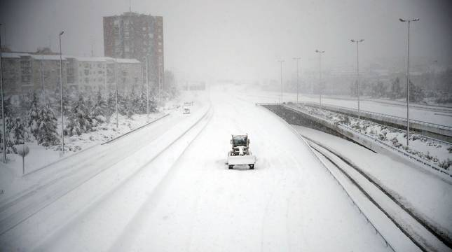 La nieve paraliza Madrid