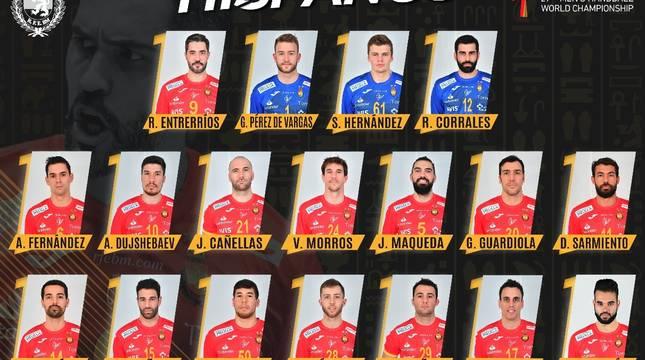 Lista de 18 convocados para el Mundial.