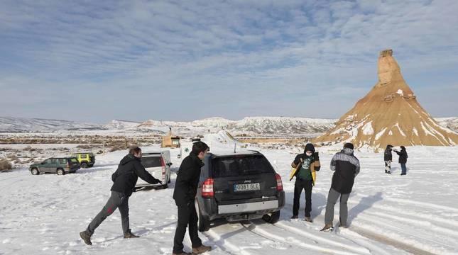 Fotos del día de nieve en Bardenas