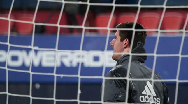 Thibaut Courtois, guardamenta belga del Real Madrid, en Pamplona