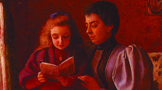 La obra Ayudando a la lectura.