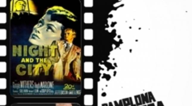 Imagen del cartel que anuncia las tres proyecciones anticipio  al Festival Pamplona Negra. .