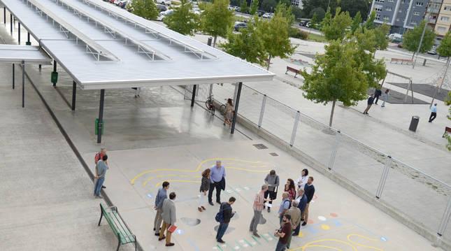 Imagen de archivo de la cubierta del patio del colegio.
