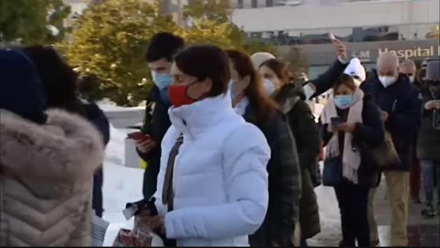 Vídeo: Las caídas por el temporal de frío y nieve saturan las urgencias de los hospitales