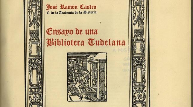 El historiador tudelano José Ramón Castro Álava protagoniza la nueva microexposición